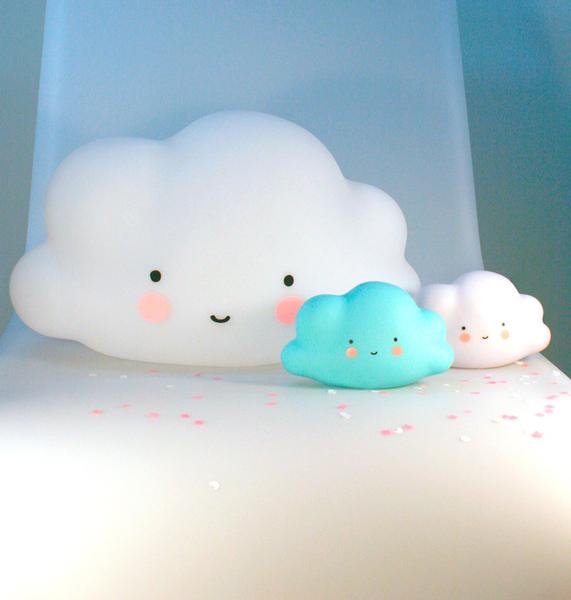 【荷蘭 A little lovely company】療癒微笑雲朵小夜燈 - 純白 #LTCW025
