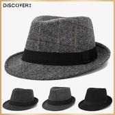 帽子男春秋禮帽男士帽子冬戶外英倫秋冬中老年人爵士帽冬天老人帽 錢夫人