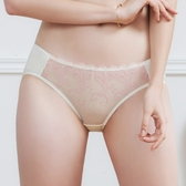 U&Z EASY SHOP-奢戀圓舞曲 中腰三角褲(珍珠白)