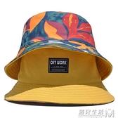 漁夫帽女夏季戶外百搭韓版潮男雙面戴太陽帽子遮陽防曬帽 遇見生活