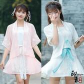 軟妹系列短裙漢元素日常改良漢服鬆鼠繡花僅半裙拉鏈含腰帶 降價兩天