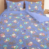 【享夢城堡】三麗鷗 55週年太空風系列-雙人四件式床包兩用被組(粉)(藍紫)