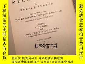 二手書博民逛書店【罕見】The Anatomy of Melancholy 2卷全Y27248 Robert Burton G