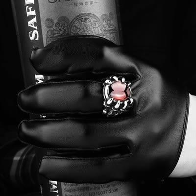 鈦鋼戒指 龍爪-復古街頭霸氣龐克生日七夕情人節禮物男飾品73le10[時尚巴黎]
