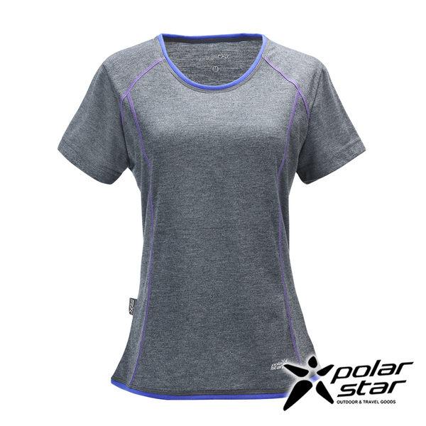PolarStar 女 排汗快乾圓領T恤『灰』P17132 吸濕排汗│瑜珈休閒服│短袖透氣運動服│慢跑路跑