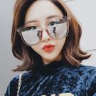 太陽眼鏡 明星同款個性超大框金邊墨鏡【O3307】☆雙兒網☆