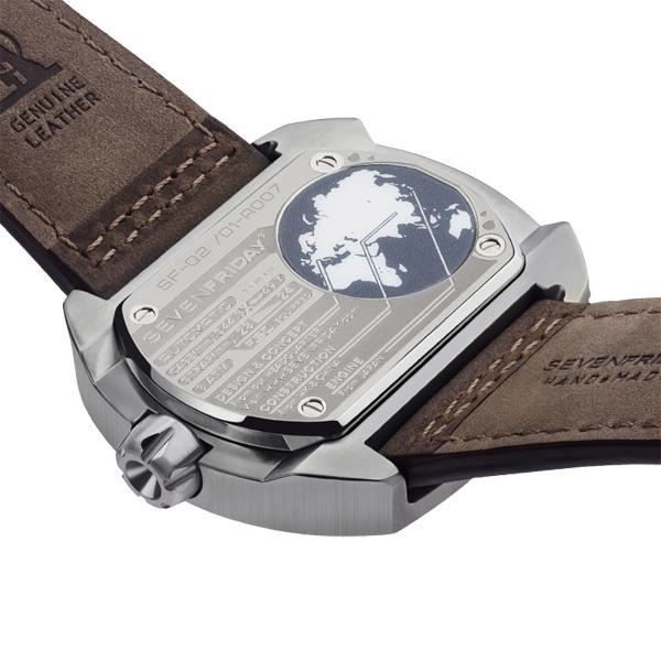 SEVENFRIDAY Q2 日期顯示自動上鍊機械錶-銅色/44*50mm Q2