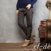 【ef-de】壓摺紋裸踝素色長褲(軍綠)