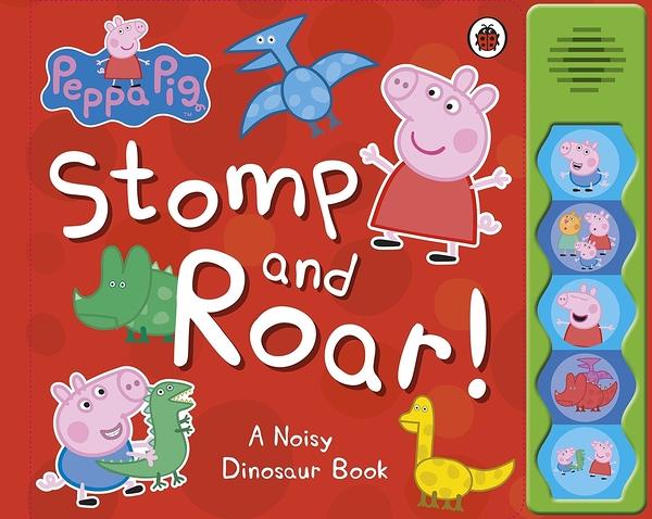 Peppa Pig:Stomp And Roar 佩佩豬的恐龍公園 精裝硬頁有聲書