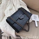 簡約復古小包包女新款潮韓版百搭側背包錬條單肩包時尚小方包 科炫數位
