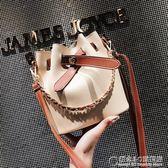 鍊條包包女夏季新款潮手提單肩包韓版時尚百搭斜挎水桶包 概念3C旗艦店