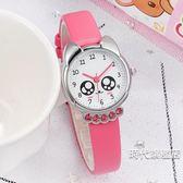 正韓兒童手錶女孩男孩中小學生女童電子石英錶卡通可愛防水皮帶錶