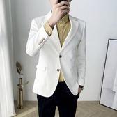 網紅款西裝男外套修身韓版帥氣休閒男士小西服青年單西潮流上衣帥
