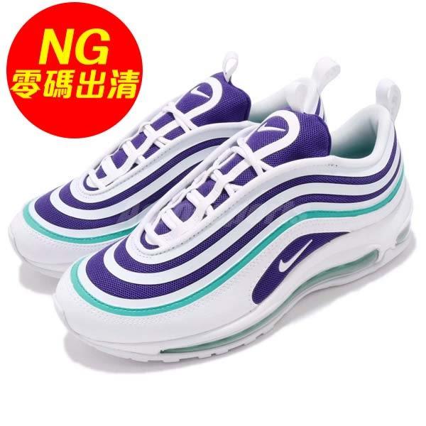 【US8-NG出清】Nike 休閒慢跑鞋 Wmns Air Max 97 UL 17 SE 右鞋面黃 白 紫 女鞋 大氣墊 【PUMP306】