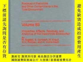 二手書博民逛書店Residue罕見Reviews (Volume 83, 198
