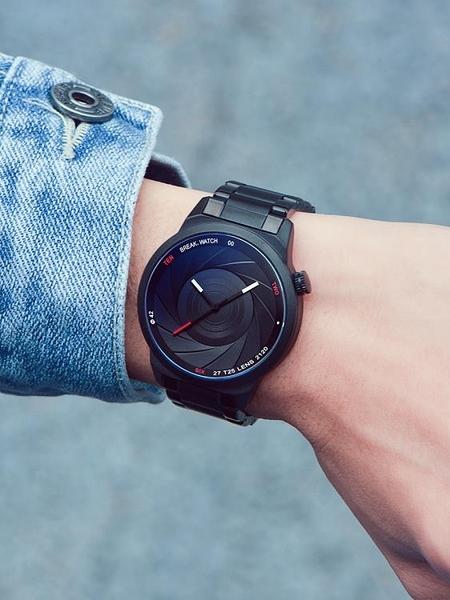 break手錶男士學生潮流時尚簡約防水創意黑科技新概念機械石英錶 智慧e家