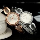 石英錶-鑲鑽潮流時尚手鍊造型女手錶2色71r17【時尚巴黎】