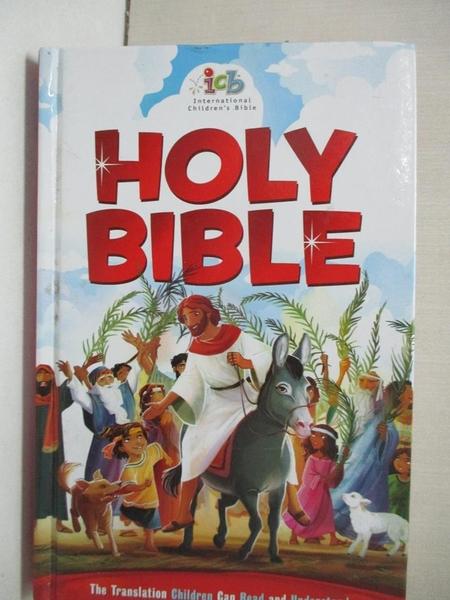 【書寶二手書T1/少年童書_A8D】Holy Bible: International Children's Bible, Red Cover