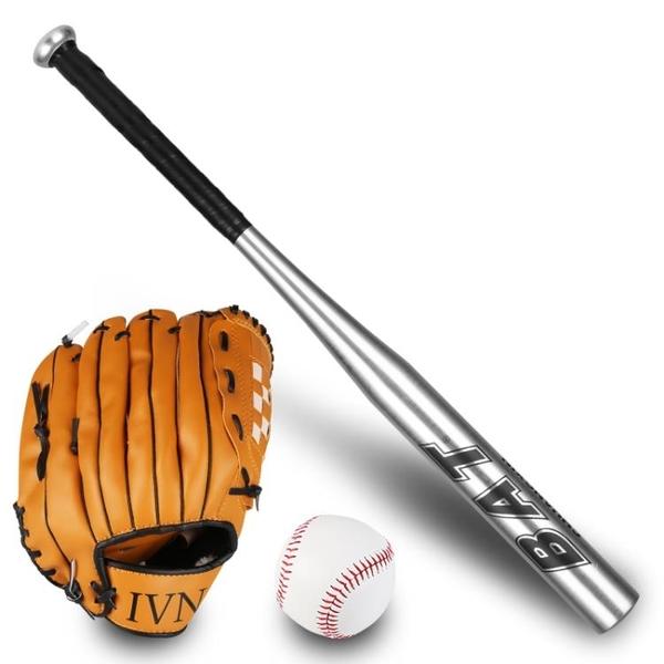 Sunlee兒童 青少年全鋁合金棒球棒 棒球手套 棒球 三合一套裝