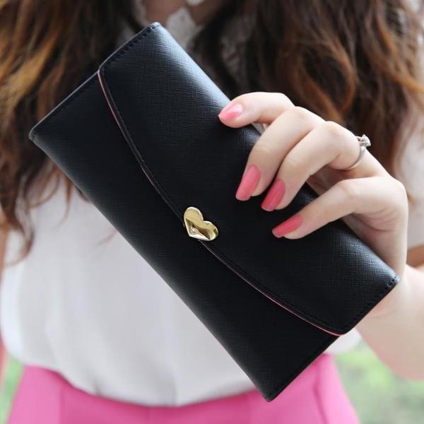 長夾 新款女士錢包 女 長款拉鏈簡約甜美學生錢包皮夾子錢夾
