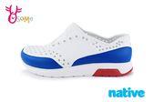 native LENNOX BLOCK 洞洞鞋 小雷諾系列 大童 休閒鞋 K9473#白藍