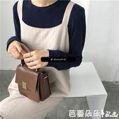 手提包-小方包女2018新款鎖扣潮韓版百搭ins同款豆腐包斜挎手提單肩包 芭蕾朵朵