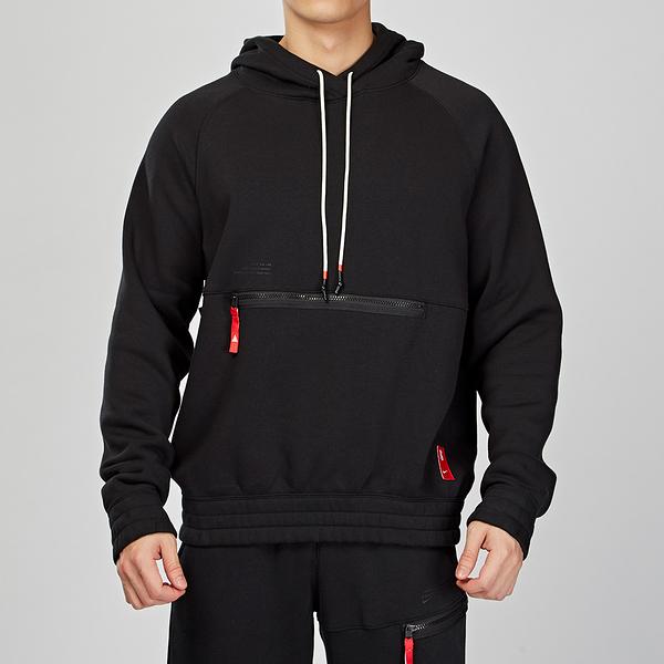 Nike Hoodie Kyrie Irving 男子 黑色 刷毛 保暖 籃球 連帽 帽T BV9298-010