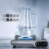 冷水壺 玻璃水壺耐熱耐高溫防爆大容量透明涼水杯家用套裝 涼水壺 igo 薔薇時尚
