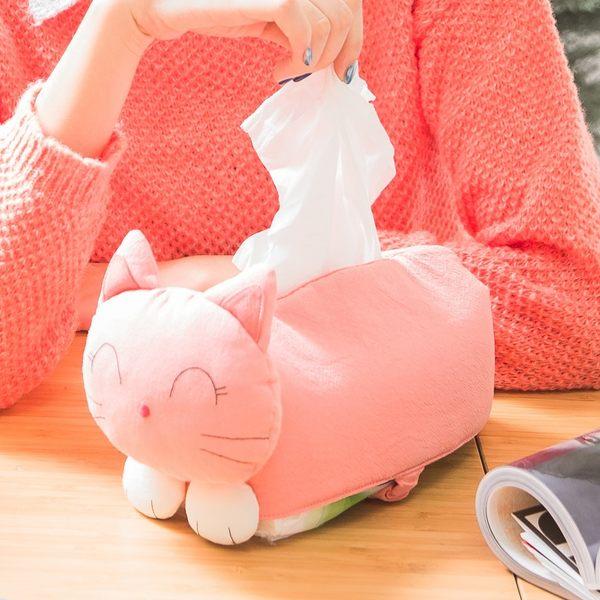 面紙套/Kiro貓‧日系貓咪拼布包 粉貓面紙套衛生紙盒/家居小物/立體造型/鋪棉【230642】