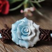 陶瓷手環-唯美花朵生日情人節禮物女串珠手鍊73gw144【時尚巴黎】