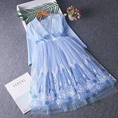 兒童禮服 愛莎公主裙女童連衣裙愛沙艾沙公主裙兒童秋裝長袖禮服【快速出貨八折搶購】