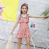 兒童泳衣 女童泳衣中大童學生少女12-15歲兒童韓國可愛公主裙式時尚游泳裝 11色