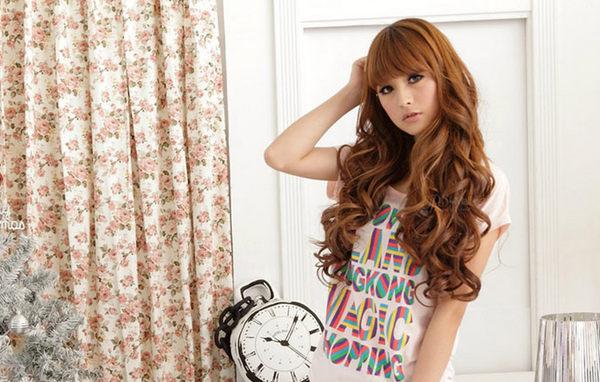 Qmishop 一片式半頂五扣 甜美大捲髮片假髮 高溫髮絲 可電棒燙【P030】新娘髮型