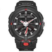 手錶男 運動手錶多功能電子錶情侶流行男士防水錶《印象精品》p169