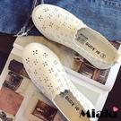 小白鞋韓式設計鏤空平底懶人鞋
