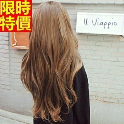 長款假髮-浪漫微捲逼真時尚超長整頂女美髮用品3色68x29[巴黎精品]