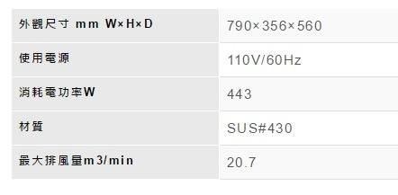 【歐雅系統家具】林內 Rinnai 深罩式高速馬達排油煙機 RH-8035S(80CM)