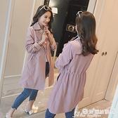 中長款外套 風衣女中長款小個子春秋氣質今年流行短款秋裝外套大衣 愛麗絲