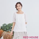 【RED HOUSE 蕾赫斯】方形領上衣(共2色)