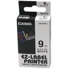 【奇奇文具】卡西歐CASIO XR-9WE1 9mm×8M 白底黑字 標誌帶
