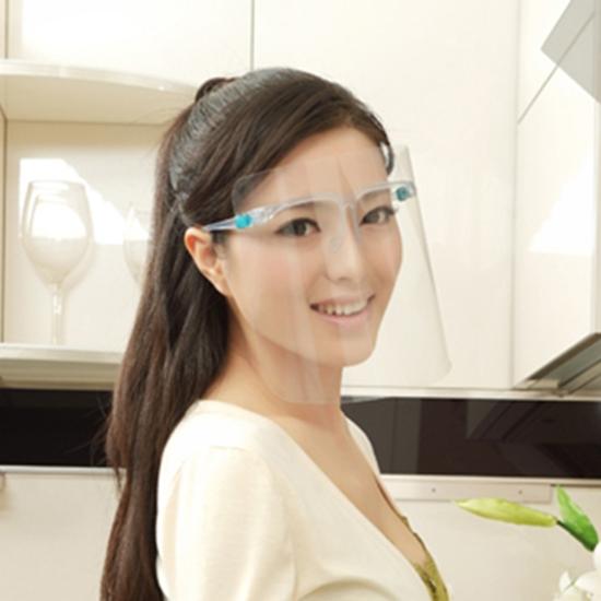 防護面罩 護目鏡 透明防護罩 護目鏡 防塵眼鏡 防濺油 防油濺面罩 可套眼鏡 護臉 【Z025】慢思行