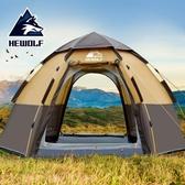 帳篷戶外3-4人全自動防暴雨2人雙人加厚防雨露營裝備野外野營情侶 歐亞時尚