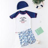水母衣韓國兒童泳衣男童中大童短袖速干度假泳裝寶寶分體泳衣潛水服男孩快速出貨8折秒殺