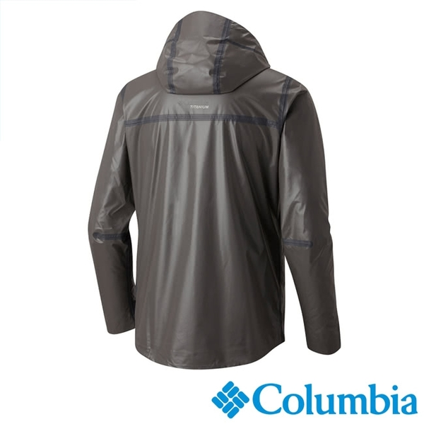 Columbia 男 鈦Outdry ECO連帽防水外套 深灰 URE10380DY【GO WILD】