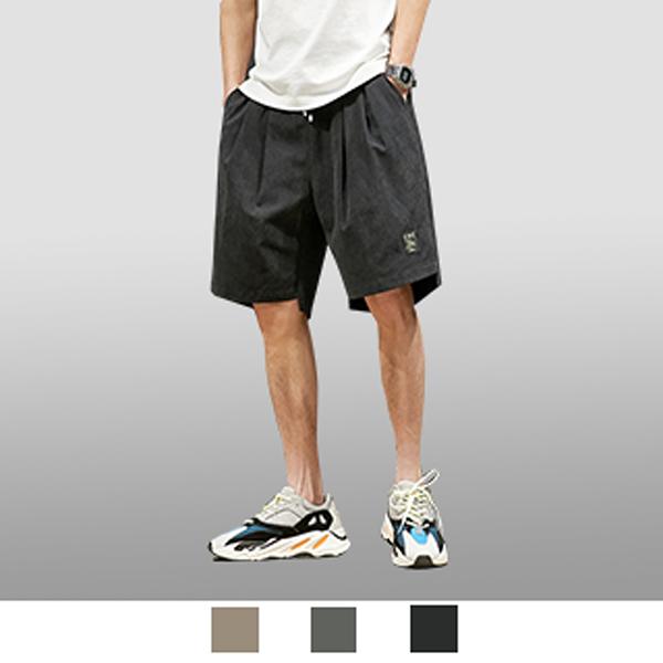 【男人幫大尺碼】K1614-夏季潮流嘻哈五分工裝褲-黑色