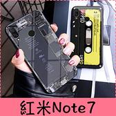 【萌萌噠】Xiaomi 紅米Note7 (6.3吋) 創意內部結構  拆機圖 復古相機保護殼 鋼化玻璃背板 手機殼