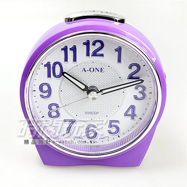 A-ONE金吉星 台灣製造超靜音貪睡鬧鐘鬧鈴 3D立體字 LED彩燈 TG-0172紫