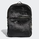 adidas 後背包 Classic Backpack 黑 白 Logo 時尚 絨毛 毛毛 男女款 【PUMP306】 DH4373