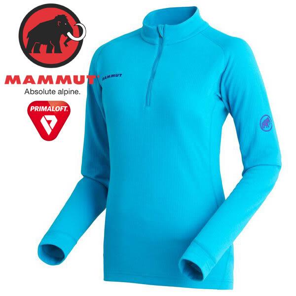 Mammut長毛象 1016-00100-5009水相藍 女長袖輕暖排汗衫/PF Thermal Z LS 機能服/日本限定/亞洲版