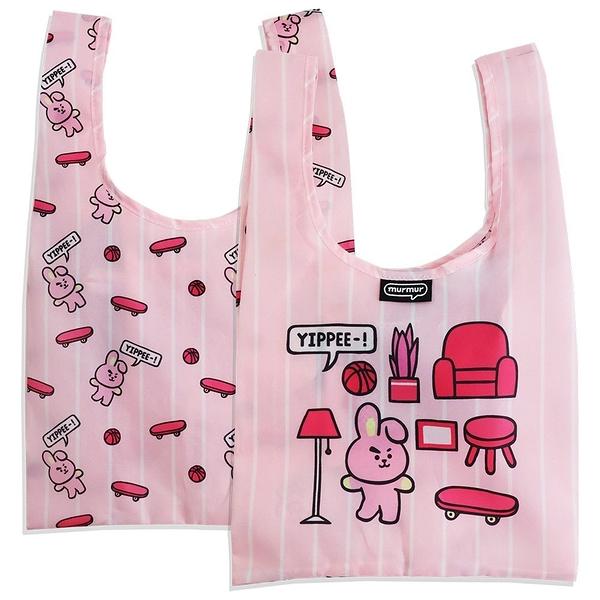 ﹝三代﹞ BT21 COOKY 便當袋 摺疊購物袋 購物袋 手提袋 飲料杯套 murmur BDB73